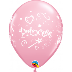 Princess Latex Balloons 11'', Qualatex 17938, pack of 6 pieces