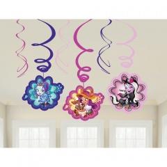 Serpentine decorative Enchantimals pentru petrecere, Amscan 9904860, set 6 buc