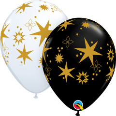 Star Patterns Balloons, Qualatex 97461