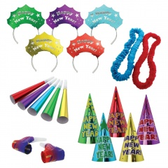 Party Kit New Year Let's Party Paper / Plastic 25 Pieces 17 x 32 x 16 cm, Amscan 9902945