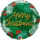 Balon Folie 45 cm - Merry Christmas, Qualatex 89853, 1 buc