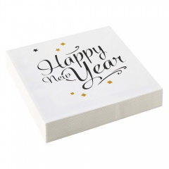 Happy New Year Confetti Napkins - 33 x 33 cm, Amscan 9902272, pack of 20 pieces