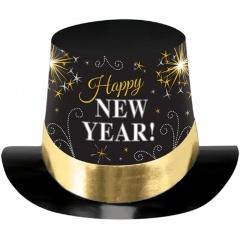 Joben Happy New Year negru cu auriu si argintiu, Amscan 25801