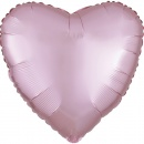 Foil Balloon Heart Satin Luxe Pastel Pink, 45 cm, Amscan 39908