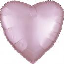 Balon folie inima 45 cm Satin Luxe Roz pastel, Amscan 39908