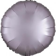 Balon folie 45 cm rotund Satin Luxe Gri Pastel, Amscan 3991902
