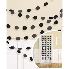 6 String Decorations Glitter Black Foil 213 cm, Amscan 672424-10