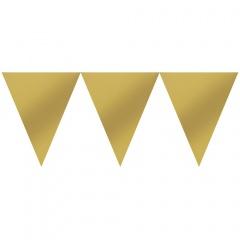 Banner fanioane auriu metalizat - 457 x 17.7 cm, Amscan 120099-19-55, 1 bucata