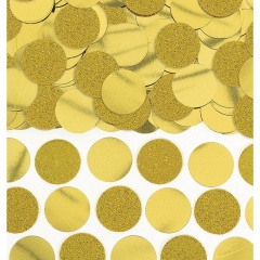 Deco confetti Gold Glitter and Foil Circle 63 g, Amscan 360220-19