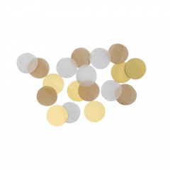 Confeti rotunde aurii pentru party si evenimente, 15g, Amscan 9904551