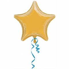 Balon Folie 45 cm Stea Aurie, Amscan 30585, 1 buc