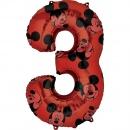 Balon Folie Figurina Mickey Mouse Forever Cifra 1 rosu- 66 cm, Amscan 40131, 1 buc