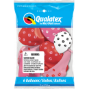 11'' Kissey Lips Balloons, Qualatex 10627, pack of 6 pieces