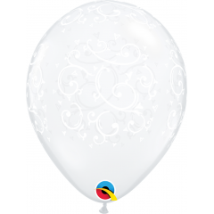 Filigree & Hearts-A-Round Balloons, Qualatex 22396