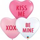 "Baloane latex inima 11"" - Love Expression Assortment, Qualatex 97266"