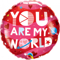 """18"""" You Are My World Foil Balloon, Q 97171"""