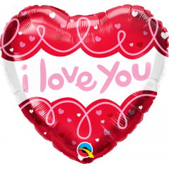 I Love You Doodle Loops, Qualatex 97174