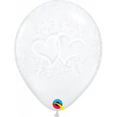 Entwined Hearts Latex Balloons, Qualatex 37200