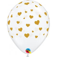 Random Hearts-A-Round Latex Balloons, Qualatex 85706