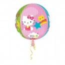 Balon Folie Sfera Orbz Hello Kitty - 43 x 45 cm, Amscan 28393