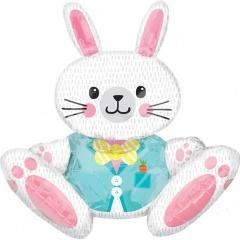 "Multi-Ballon ""Large Sitting Bunny"" Foil Balloon, 71 x 76cm, Amscan 37090"