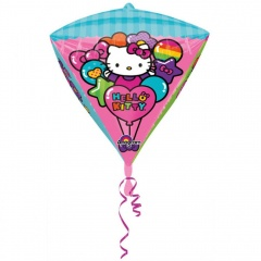 Balon Folie Diamondz Hello Kitty -  x 45 cm, Amscan 28457