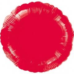 Balon Folie 45 cm Rotund Rosu, Amscan 20584, 1 buc