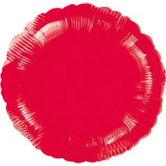Standard Circle Metallic Red Foil Balloon, Amscan 20584, 1 piece