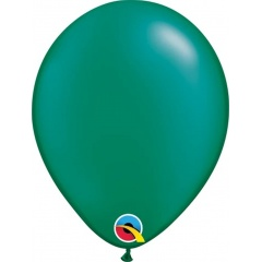 Balon Latex Pearl Emerald Green 5 inch (13 cm), Qualatex 43581, set 100 buc