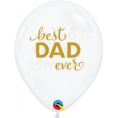 Baloane Latex 11''/28 cm - Best Dad Ever, Qualatex 11238