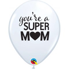 Baloane Latex 11''/28 cm - You're A Super Mum, Qualatex 11268