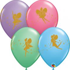 Fairies & Sparkles Latex Balloons, Qualatex 12451