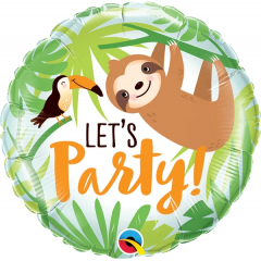 Let's Party Toucan & Sloth Balloon Foil, Qualatex 12259