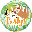 Let's Party Toucan & Sloth Balloon Foil, Qualatex 12259
