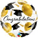 Balon Folie 45 cm - Congratulations Gold Balloons, Qualatex 82283
