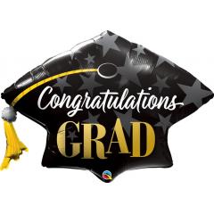 Congratulations Grad Stars Foil Balloon- 106 cm, Qualatex 82656
