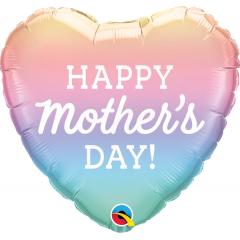 Balon Folie 45 cm Mother's Day Pastel Ombre, Qualatex 98412