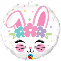Balon Folie 45 cm Bunny Face, Qualatex 98337
