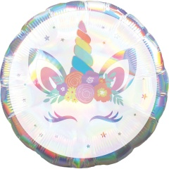 Standard Holographic Iridescent Unicorn Party Foil Balloon, Amscan 40808