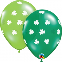 Big Shamrocks Latex Balloons, Qualatex 41689