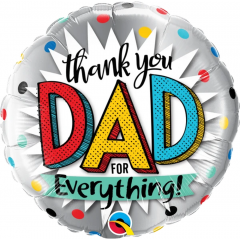 Thank You Dad For Everything! Foil Balloon, Qualatex 55818