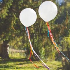 Panglici satinate multicolore pentru baloane - 1 m, Radar 50276, set 6 buc