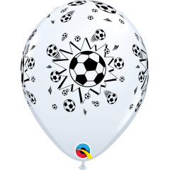 "Baloane latex 11""/28cm inscriptionate Soccer Balls, Qualatex 92044"