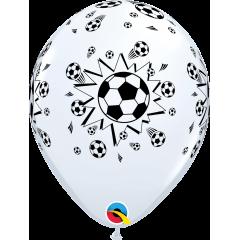 "Baloane latex 11""/28cm inscriptionate Soccer Balls, Qualatex 92044"