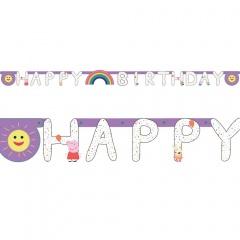 Banner pentru petrecere - Peppa Pig, 2.1m x 1.8m, Amscan 9906336