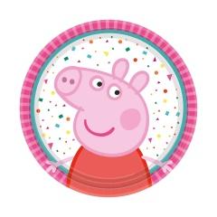 Farfurii carton Peppa Pig pentru petrecere copii - 18 cm, Amscan 9906330