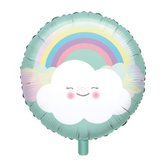 Balon Folie 45 cm Rainbow & Cloud, Amscan 39250