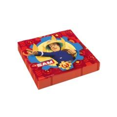 Servetele de masa pentru petrecere copii- Pompierul Sam, 33 x 33 cm, Amscan 9902177, set 20 buc