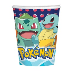 8 Cups Pokemon Paper 250 ml, Amscan 9904822