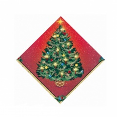 Warmth of Christmas Luncheon Napkins, 33 x 33 cm, Amscan 61981, Pack of 16 pieces